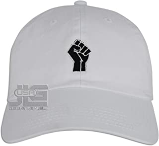 JLGUSA Power Fist Hat Dad Embroidered Polo Style Baseball Cap
