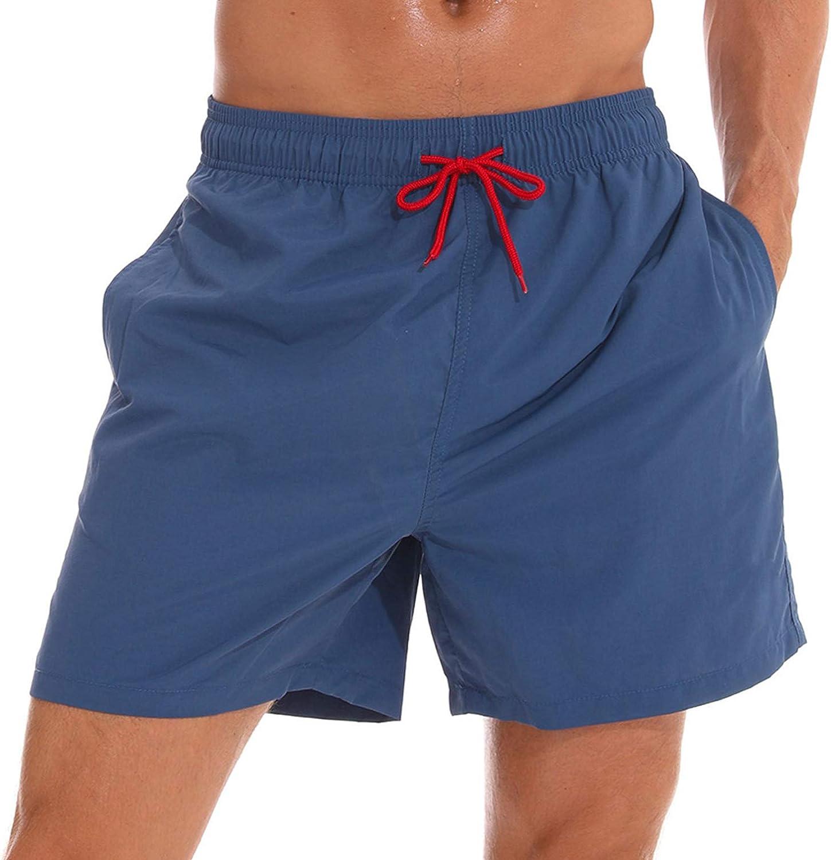 ECGK Men's Swim Trunks Quick Dry Beach Shorts with Pockets Swimsuits for Men