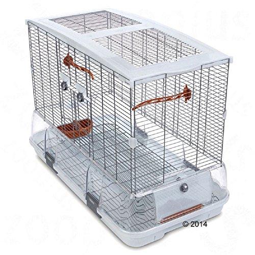 Grande cage à oiseaux Blanc Extra Grand avec accessoires