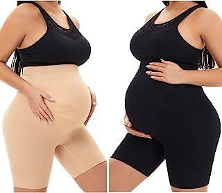 KUNINDOME Maternity Shapewear High Waist Mid-Thigh Pregnancy Underwear Prevent Chaffing