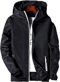 Chaqueta deportiva ligera y casual con capucha para hombre