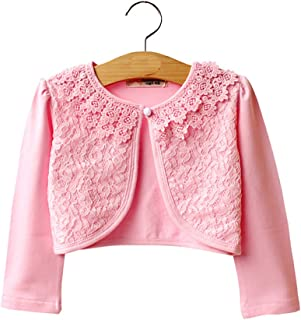 LiMeiW Child Shawl Cotton lace Girl Air Conditioning shirtr Jacket Cardigan