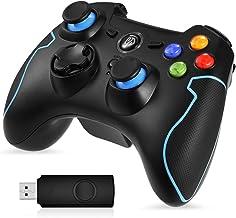 EasySMX Mando para PC, [Regalos] Mando Inalámbrico PS3 Gamepad Wireless Compatible con Windows XP y Vista, Windows 7/8/8.1/10 y 10, PS3, Android y Operación Rango hasta 10M (Azul)