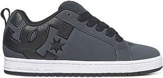 DC Men's Court Graffik SE Skate Shoe,Grey/White,11.5 D US
