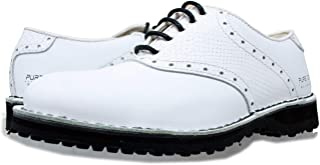 PORTMANN Chaussures de golf classiques sans crampons pour homme | Cuir de qualité supérieure | Chaussures soudées | Extral...