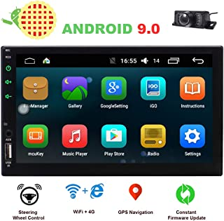 EINCAR 2 Din Car Stereo Touch Screen Car Radio Bluetooth Double Din Android 9.0 Car Player Head Unit GPS Navigation FM/AM RDS Autoradio Video AUX WiFi Mirrorlink Remote Control Rear Camera