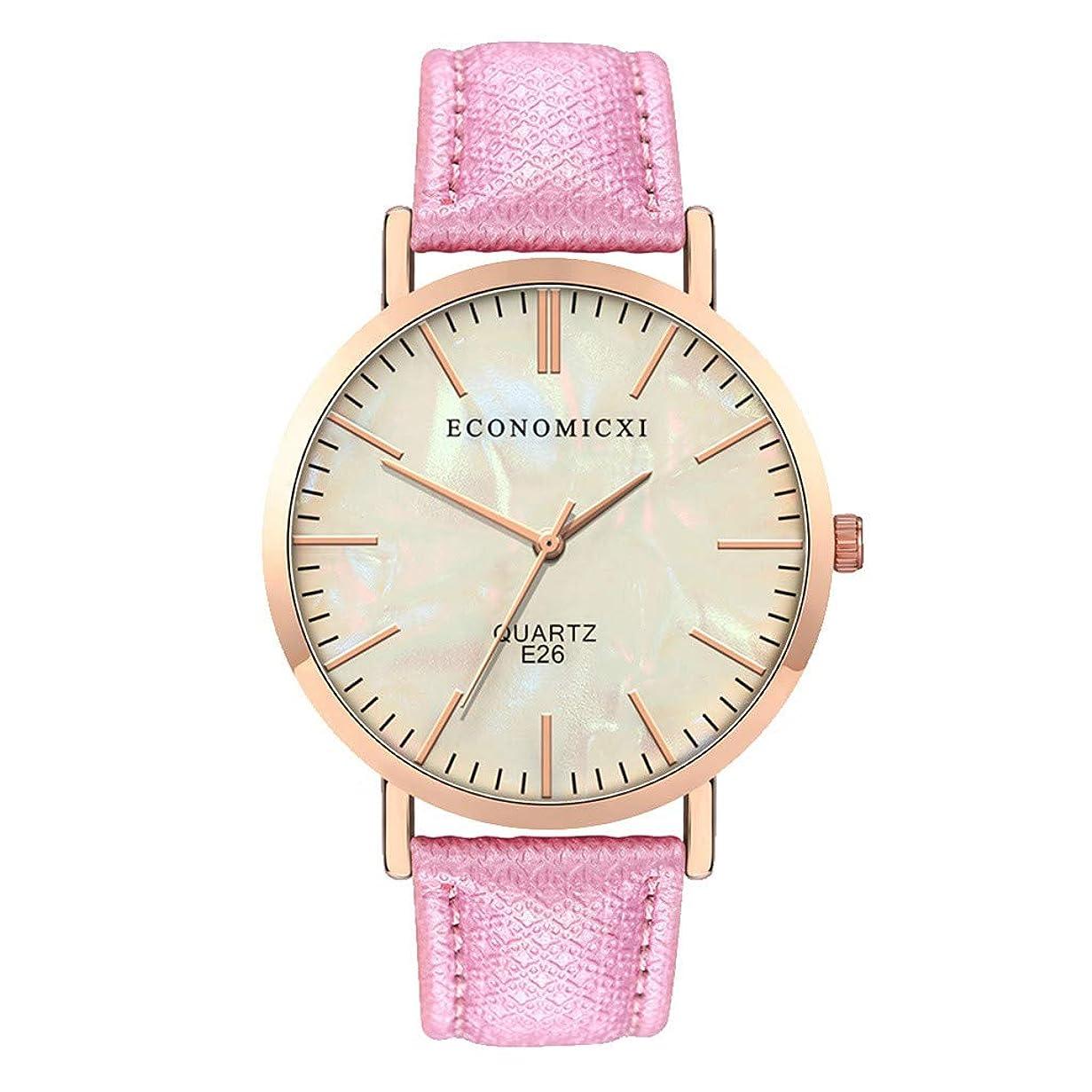移動する道に迷いました見えない人気 高級 ファッション レディース ガールズ 腕時計-Waminger[ワミナー] 時計軽い 高級感 耐衝撃 かわいい 魅力的 キラキラ ギフトスタイリッシュシンプル クォーツ ベルト ラウンドラージ ダイヤル女の子 姬風 流行 安い ウオッチ(ピンク)