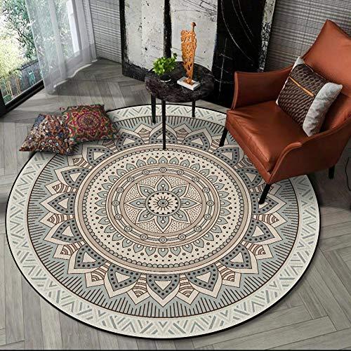 YXISHOME Teppiche Wohnzimmer Schlafzimmer Teppiche Superweiche Matten Einfache und frische Elegante Lotus Runde Teppich Couchtisch Home Decor 1.4M - Rund