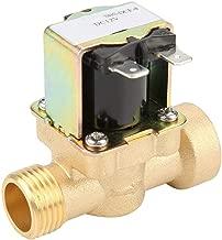 Woljay Electrovanne /électrique 3//4 Pouce AC 380V Eau Air Gaz Vanne en laiton normalement ferm/ée