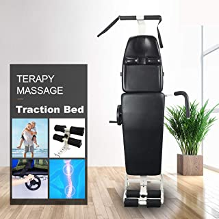 ECO-Worthy New Massage Bed Table Cervical and Lumbar Traction Bed Body Stretching Device Equipment Folding Therapy SPA Bed Facial Tattoo