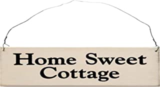 MaxEcor Home Sweet Cottage - Saying Handmade Rustic Wood Sign - Hanging Wall Door - Home Decor Housewarming Wedding Friends Fun Basket Wreath Gift