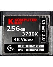 Komputerbay Professional - Tarjeta CFast 2.0 (3700 x 256 GB, hasta 560 MB/s de Lectura y hasta 495 MB/s de Escritura)