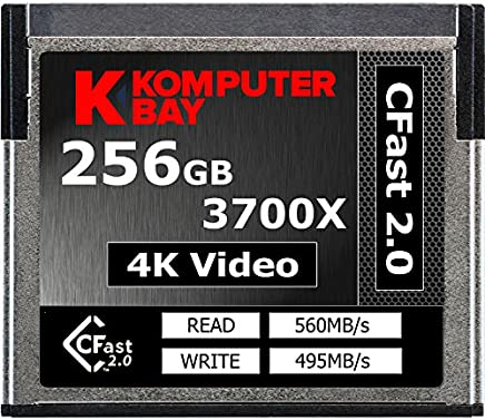 Komputerbay Professional 3700 x 256GB CFast 2.0 Card (Up to 560MB/s Read and up to 495 MB/s Write)