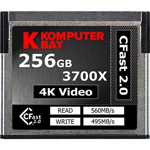 Komputerbay Professional 3700x 256GB CFast 2.0 Karte (Bis zu 560MB / s Lesen und bis zu 495 MB/s Schreiben)