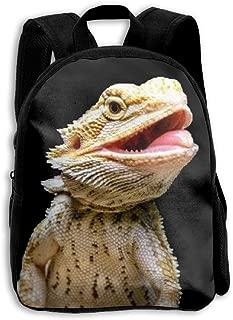 Kids School Backpack Bearded Dragon Lizard Travel Bag