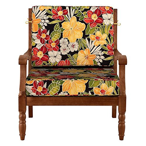 Outdoor Seat Cushions Tropical Print Amazon Com