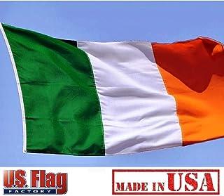 US Flag Factory 3x5 FT Ireland Irish Flag (Sewn Stripes) Outdoor SolarMax Nylon - Made in America - Premium Quality