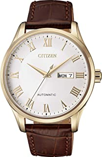 Citizen Men's NH8363-14A Gold Leather Japanese Automatic Dress Watch