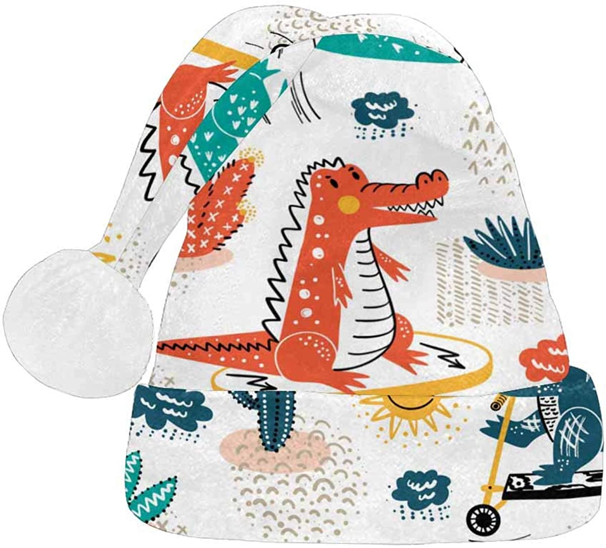 InterestPrint Christmas New popularity Santa Hat Max 85% OFF Design Adults for Fashion