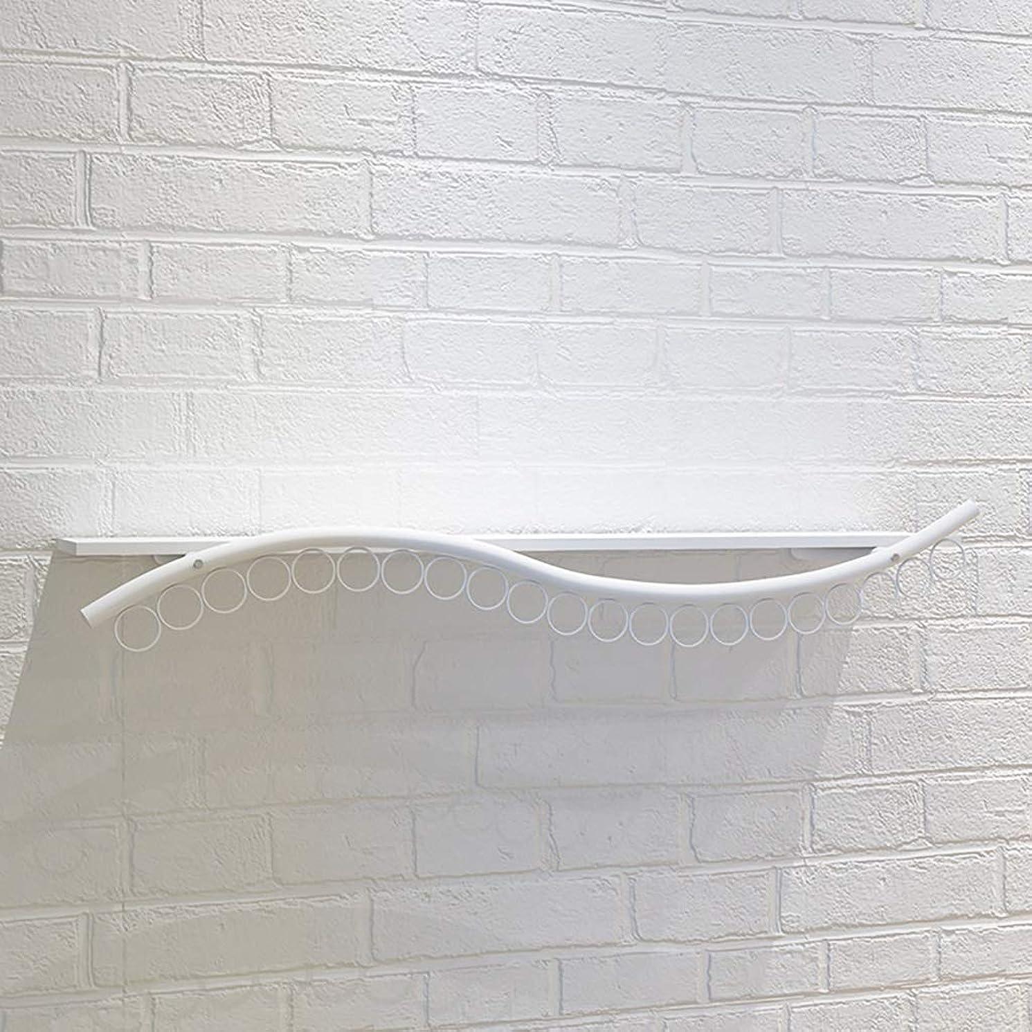 誕生日影のあるアテンダント壁掛け服は服を保管、商業ガーメントラック長さ120センチメートル用ロッドをハンギング、ループを吊るす21とシェルフを表示します (Color : White)