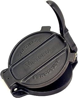 Victoria 6.5 inch Cast Iron Tortilla Press and Pataconera, Original Made in Colombia, Seasoned