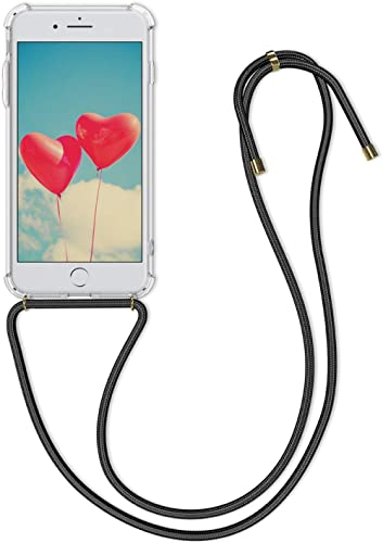 kwmobile Crossbody Case Compatible with Apple iPhone 7 Plus / 8 Plus - Case Clear TPU Phone Cover w/Lanyard Cord Stra...