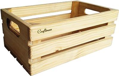 Craftman Basic Crate Fruits & Vegetables Basket Multipurpose Bin Crate Storage
