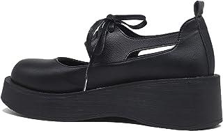 OROSUA Femmes Mary Jane Chaussures à Lacets Classique Bout Rond Plate-Forme Chaussures Style Portable léger Talon compensé...