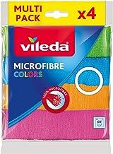 Vileda Microfiber Colors All Purpose Wiping Cloth 4Pcs