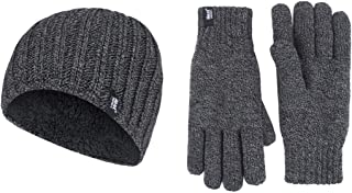 Heat Holders Men's Gift Box Hat and Gloves, Charcoal, S/M