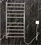 Radiadores de baño Calentador de toallas eléctricas, 304 acero inoxidable de pared Control inteligente de temperatura inteligente Toalla de secado, temperatura constante adecuada para baño, plugin