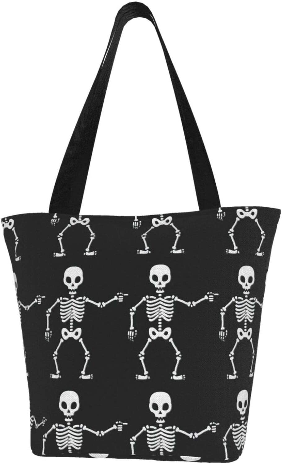 Now on sale AKLID Skull Bone Extra Large Water Bag Resistant for Canvas Now free shipping Tote