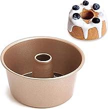 Nonstick Bakeware 4-Inch Bundt Pan Tin Mini Cake Bake Mold Carbon Steel Leakproof Cake Pan, Round