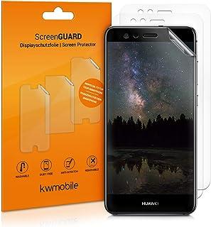 kwmobile 3x pellicola salvaschermo compatibile con Huawei P10 Lite - Film protettivo proteggi telefono - protezione antigr...