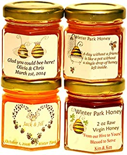 Wedding Honey Favors (case of 24 x 2oz jars) - Pure Raw Honey