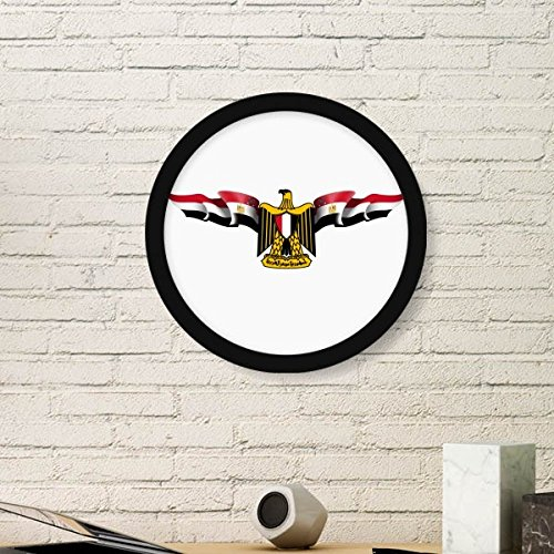 DIYthinker Arab Egypte Vlag Nationaal Embleem Ronde fotolijst Kunstdrukken Van Schilderijen Thuis Muursticker Gift