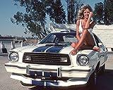 Erthstore 11x14 inch Fine Art Print of Farrah Fawcett Charlie's Angels Sits on her 1977 Mustang Cobra II