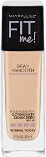 Maybelline New York Fit Me Dewy + Smooth Foundation, Nude Beige, 1 Fl. Oz (Pack of 1) (Packaging May Vary)