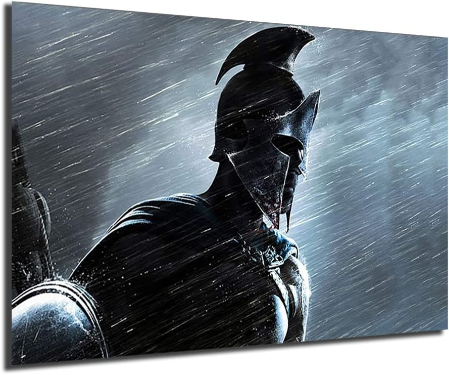 Spartan Warriors NEW Art Canvas Poster Black Abstract Print Painting 激安☆超特価