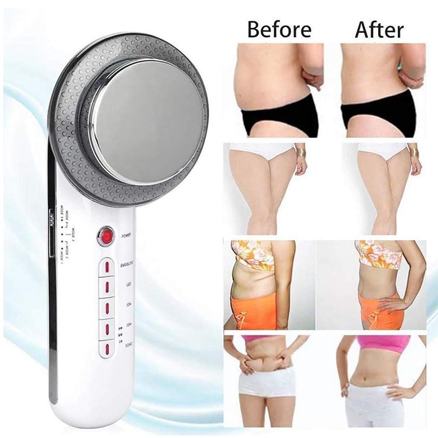エネルギーかび臭い無効にする脂肪バーナーマシン、セルライト脂肪除去マッサージャー腹減量超音波EMS LEDイオン引き締め成形装置
