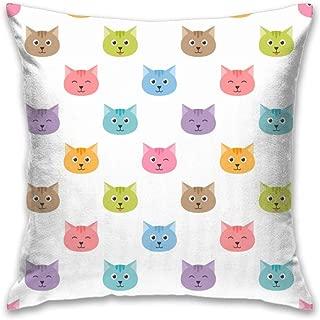 FEDDIY Home Decor Pillowcase Cute Cat Color Throw Pillow Cover for Car Club Bed Sofa Cushion Cases 16