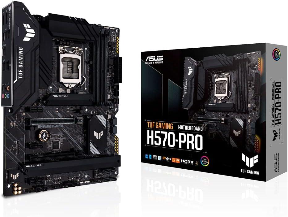 ASUS TUF Gaming H570-PRO - Placa Base ATX (Intel H570 LGA 1200 con VRM de 8+1 Fases, PCIe 4.0, Tres Ranuras M.2, Realtek 2.5 GB Ethernet, USB 3.2 Gen. 2 x 2 de Tipo C, USB 3.2 Gen. 1 de Tipo C)