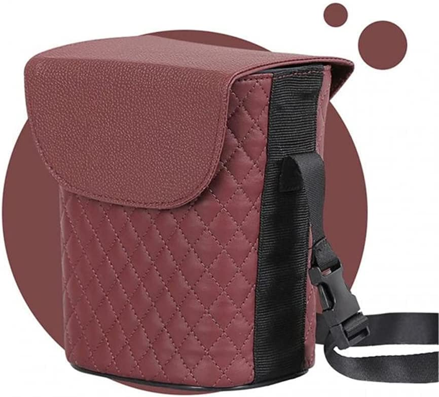 ASDFGH Car Trash Can Max 70% OFF Seat Tra Leather Multifunctional Basket Rare