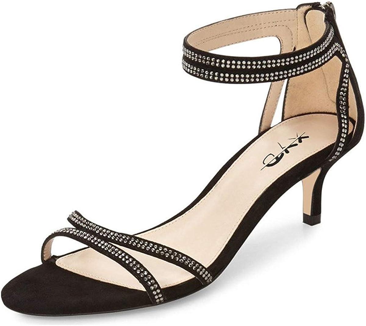XYD Women Open Toe Shipping included Low Heel Ankle Overseas parallel import regular item Str Rhinestone Strappy Sandals