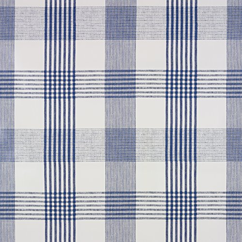 Veeg Clean Tafelkleed PVC Vinyl Blauw Licht Check Rond Vierkant of Rechthoek