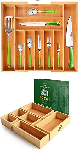 discount Silverware Drawer outlet online sale Organizer and Storage Box Set of lowest 5 outlet online sale