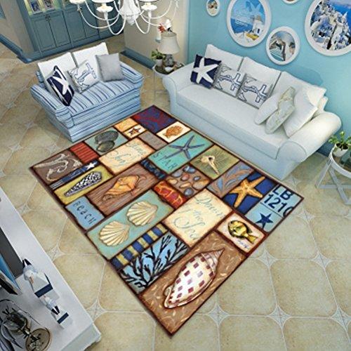 WLH- Tapijt Woonkamer Modern Koffietafel Pads Mats Home Kitchen Slaapkamer Rechthoekige Ottomanen (Color : B, Size : 50x80cm)