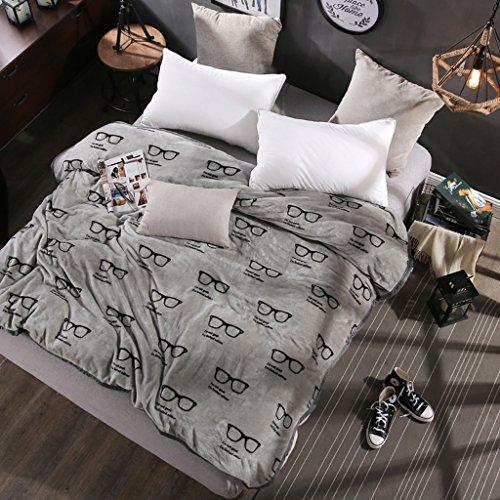 Wddwarmhome Les couvertures matérielles grises chaudes de couverture de chambre à coucher de garçon de couverture de chambre à coucher de polyester couvrent les douces et confortables Couvertures ( taille : 150*200 cm )