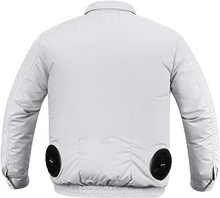 MIDIAN 空調服 空調風神服 ファン バッテリー セット 熱中症対策 長袖 ブルゾン 綿 2019年新型空調服作業着 日本語説明書付き