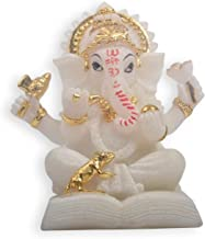 Ganesha Painted Resin India Elephant God Buddha Sculpture Statue Religious Feng Shui Statue Home Decoration Accessories Cr...